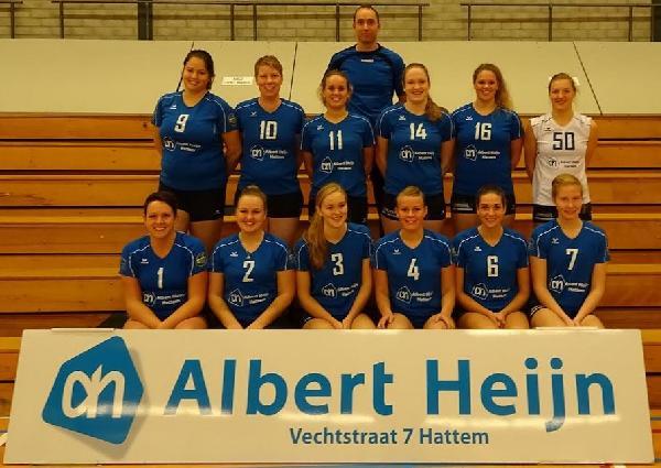 Volleybaldames AH/HVV zetten winterkampioenschap door